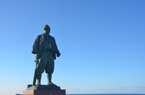 間宮林蔵の立像/稚内観光情報 最北のまち稚内