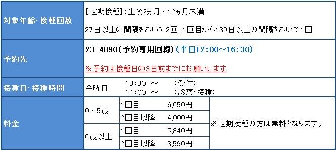 B型肝炎ワクチン/市立稚内病院